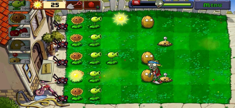 Plants vs Zombies Gameplay